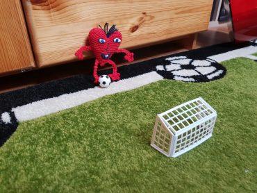 Das kleine Herz auf dem Fußballplatz